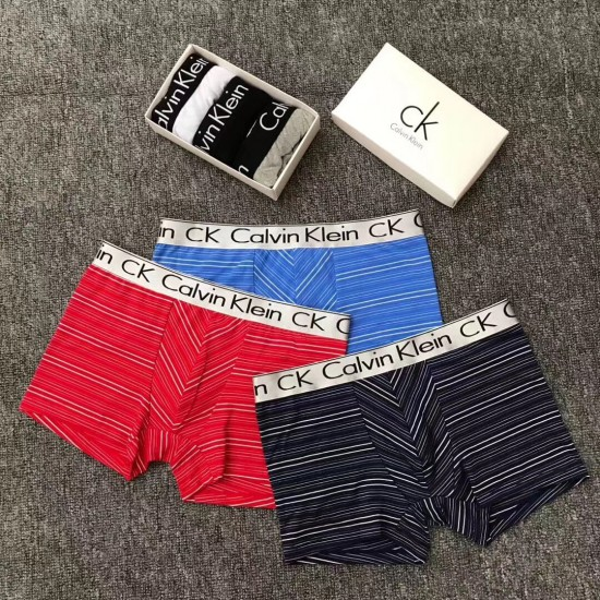 Boxer Calvin Klein de algodón para hombre, color celeste BOX00007B
