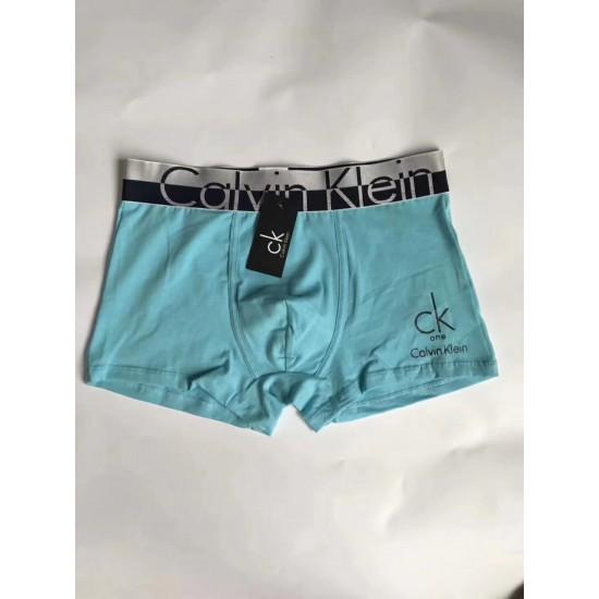 Boxer Calvin Klein de algodon para hombre, color liso, celeste BOX00008A