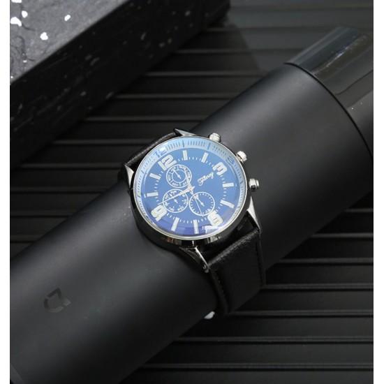 Juego de regalo para hombre reloj y faja de cuero REL00098