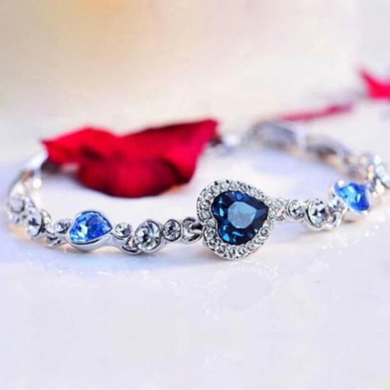 Pulsera con cristales de color azul PUL00001