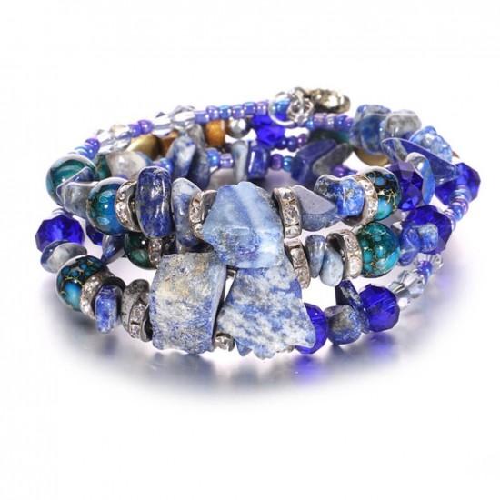 Pulsera Bosnia con cristales y piedras PUL00011