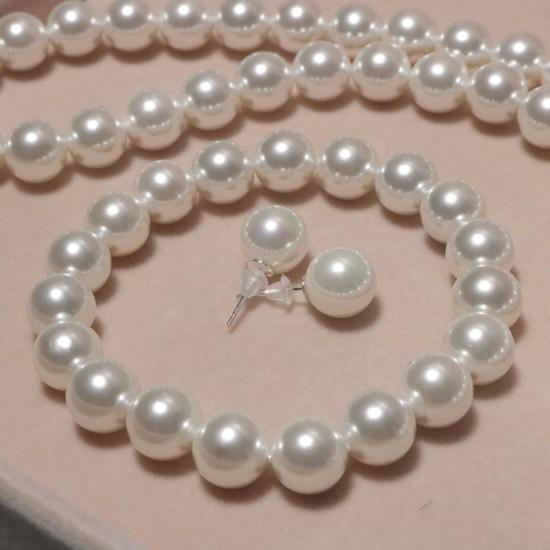 Conjunto de perlas cultivadas de agua dulce que incluye una impresionante pulsera, collar y aretes PUL00022