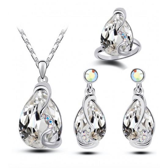 Juego de collar+anillo+aretes PUL00003