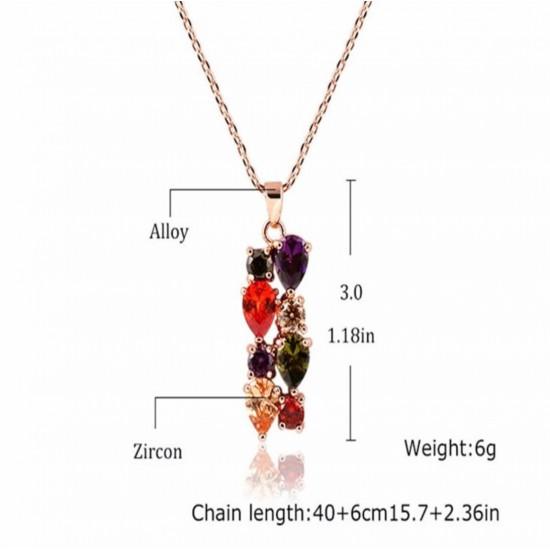 Juego de joyas con cristales de circonio PUL00024