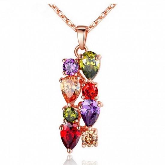 Juego de joyas con cristales de circonio PUL00025