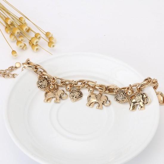 Pulsera hecha a mano diseño elefantes PUL00010