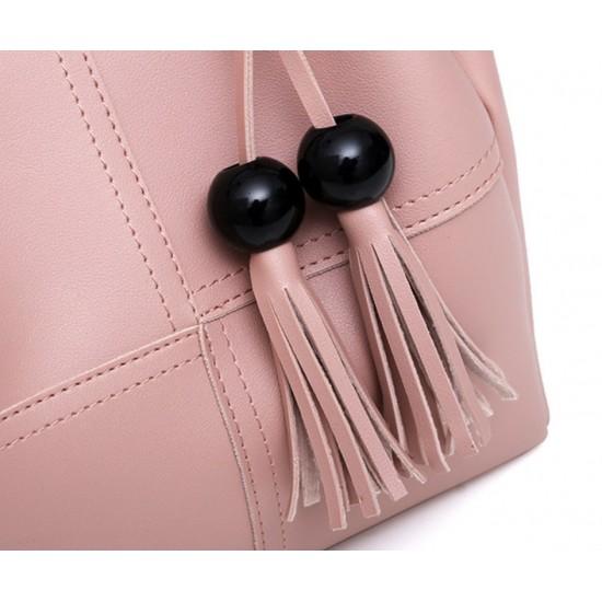 Bolso de mano para mujer de piel sintética 3 piezas BOL00071