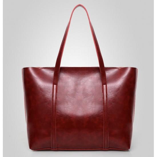 Bolso de mano de piel sintética para mujer + bolso de hombro BOL00049