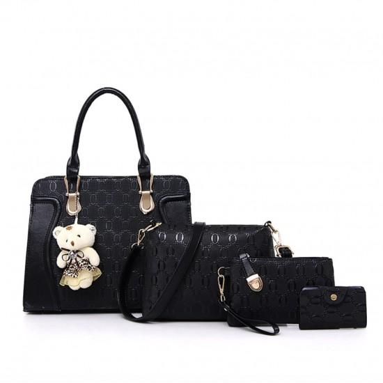 Bolso de mano para mujer, bolso de hombro, bolso de 4 piezas BOL00079