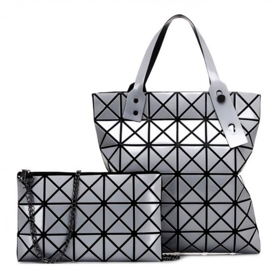 Bolso grande geométrico para mujer, ligero, con asa superior y bolso de hombro BOL00103