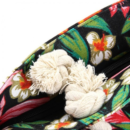Bolsa de playa grande con bolsillo interior con cremallera y asa de cuerda BOL00115