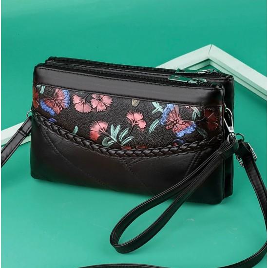 Bolso de mano de cuero natural para mujer BOL00136