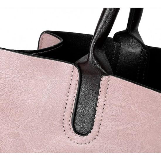 Bolsos de piel sintética para mujer, bolsa de hombro, monedero+tarjetero, 4 unidades BOL00090