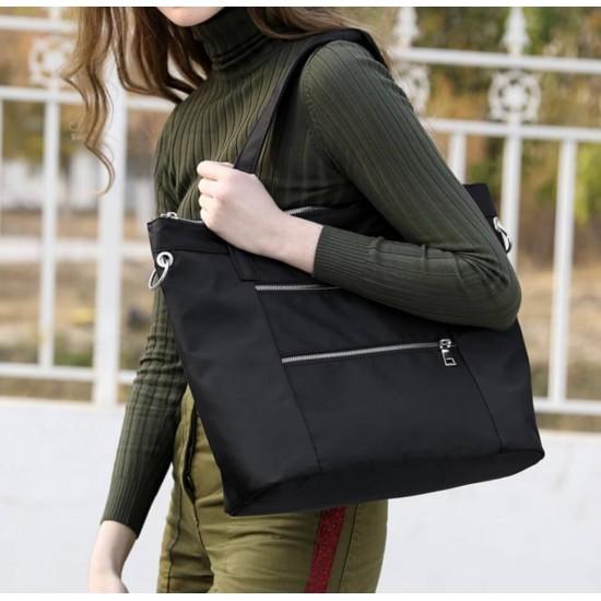 Bolsa de hombro grande de nailon ligera para gimnasio, senderismo, picnic, viajes, playa, impermeable BOL00107
