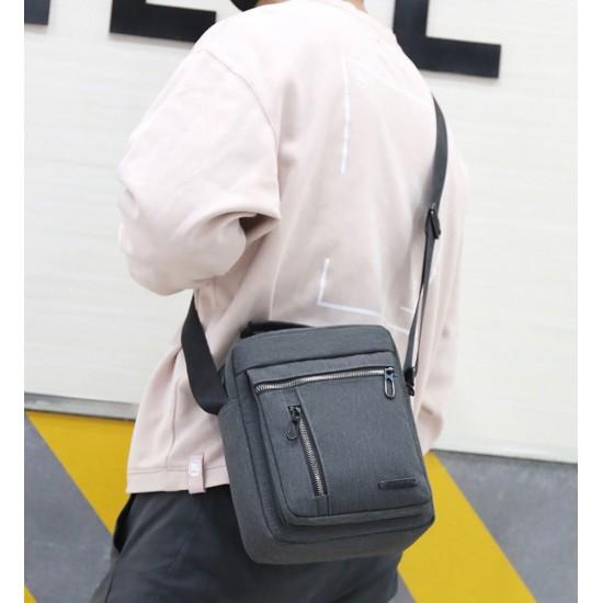 Bolso bandolera para hombre, diseño vintage de lona BOL00128