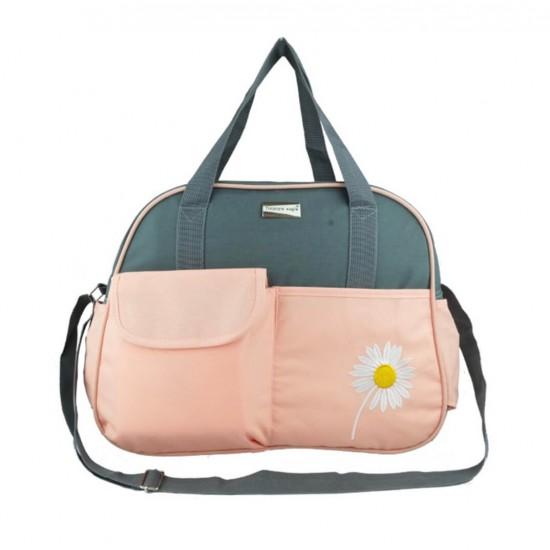 Bolso para pañales (4 piezas, para bebé, mamá, papá, elegante, multifunción, gran capacidad, incluye cambiador) BOL00187