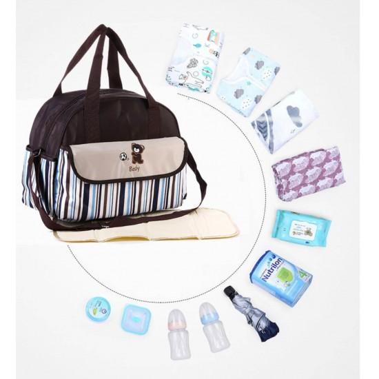 Set de bolsa de pañales para bebé para mamá y papá BOL00188