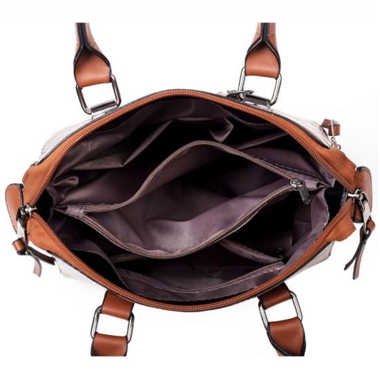 Bolsos de piel sintética para mujer, bolsa de hombro, monedero+tarjetero, 4 unidades BOL00076