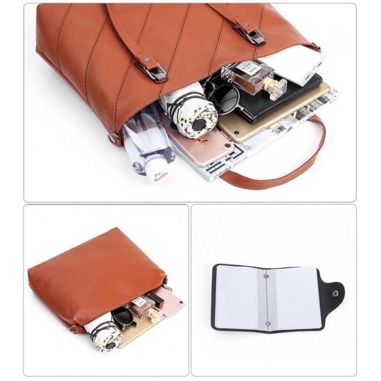Bolso de mano de cuero sintético para mujer, 3 unidades BOL00085