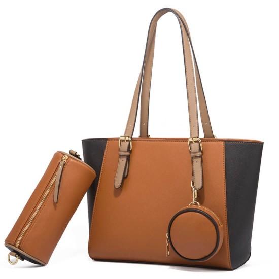 Juego de bolsos de color combinado para mujer BOL00163