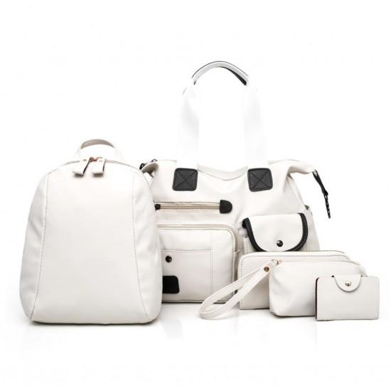 Juego de 5 piezas bolso y mochila para mujer, nailon BOL00046