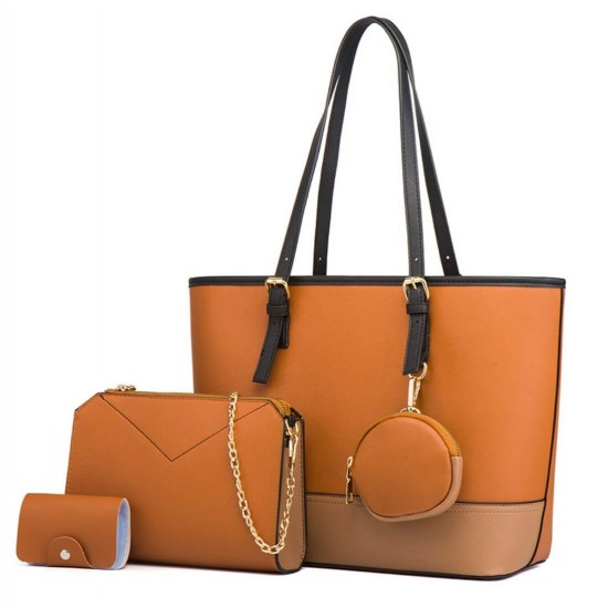 Juego de bolsos de 4 piezas de color combinado para mujer BOL00164