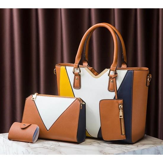 Juego de bolsos de 4 piezas de color combinado para mujer BOL00165