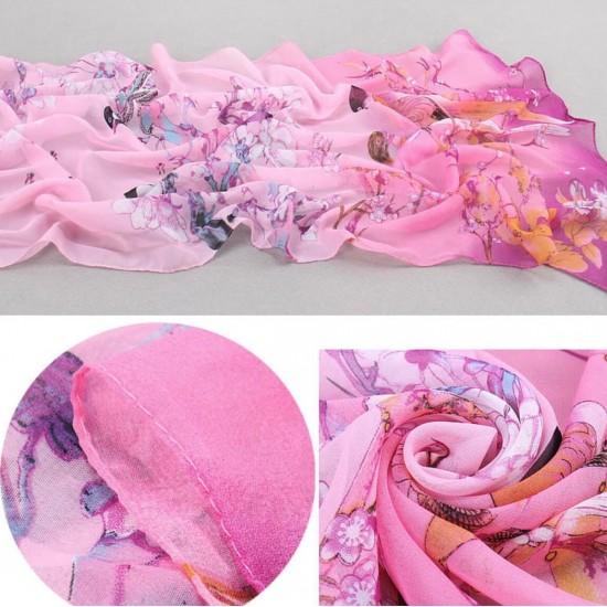 Bufanda de gasa ligera con estampado floral BUF00006B
