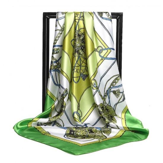 Pañuelo de seda para mujer grande, cuadrado y satinado BUF00001B
