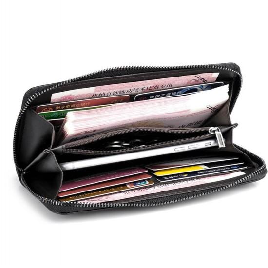 Billetera larga para hombre con zipper CAR00011