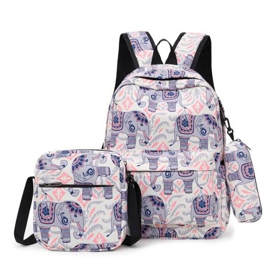 Mochila para estudiantes de escuela primaria, bolso de hombro, estuche MOC00137