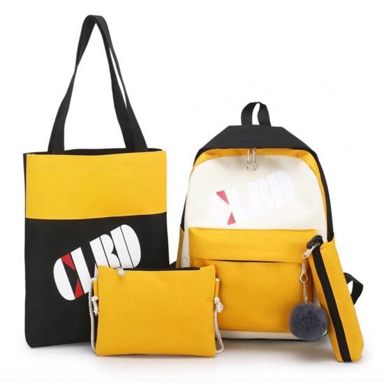 Juego de 4 mochilas para la escuela de lona MOC00028