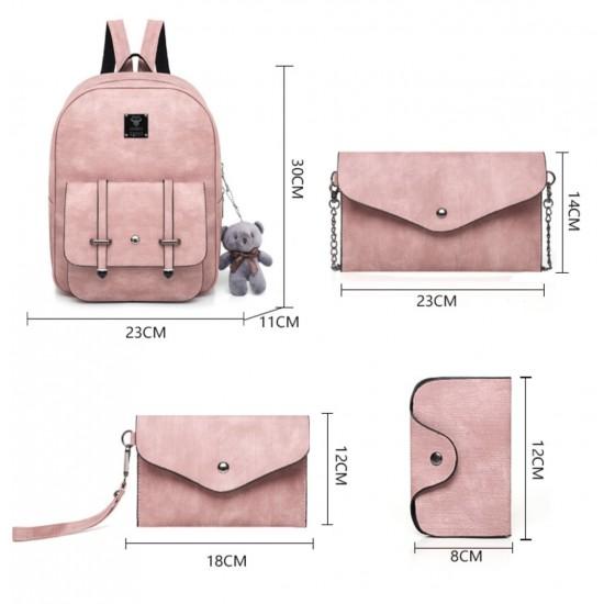 Juego de 5 piezas mochilas para mujer, cuero sintético MOC00031-2