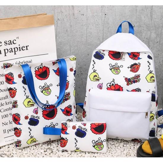 Juego de mochilas de 3 piezas de lona para estudiantes MOC00029