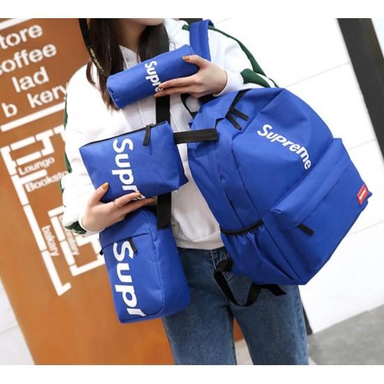 Juego de 4 mochilas de lona para colegio MOC00139