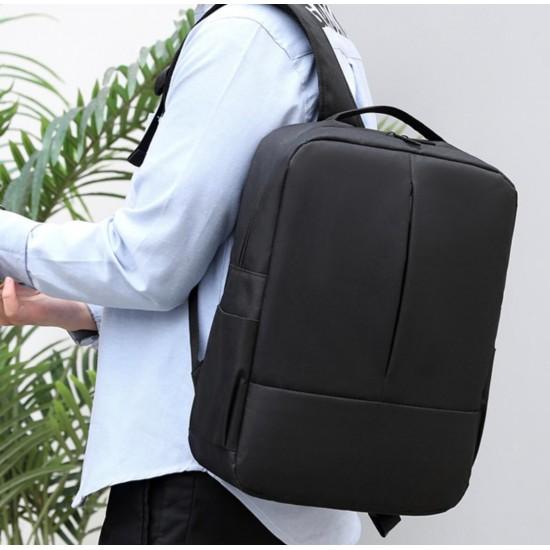 Mochila para hombres, mochila escolar universitaria mochila de negocios para portátil con puerto de carga USB MOC00176