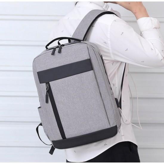 Mochila para portátil de 15,6 pulgadas con puerto de carga USB, resistente al agua, mochila grande y duradera para la escuela MOC00189