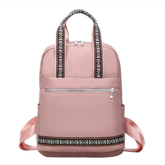 Mochila de estilo casual de nailon para mujer, mochila para portátil BOL00010