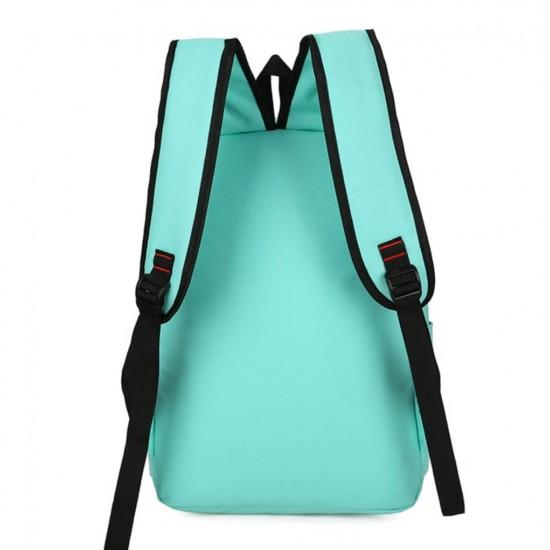 Juego de 4 mochilas escolares de lona con estampado de gatos MOC00020