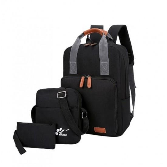 Mochilas para laptop de lona Juego de 3 unidades MOC00065