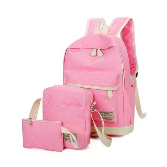 Mochila escolar de lona de algodón, estilo casual, para niños y niñas MOC00021