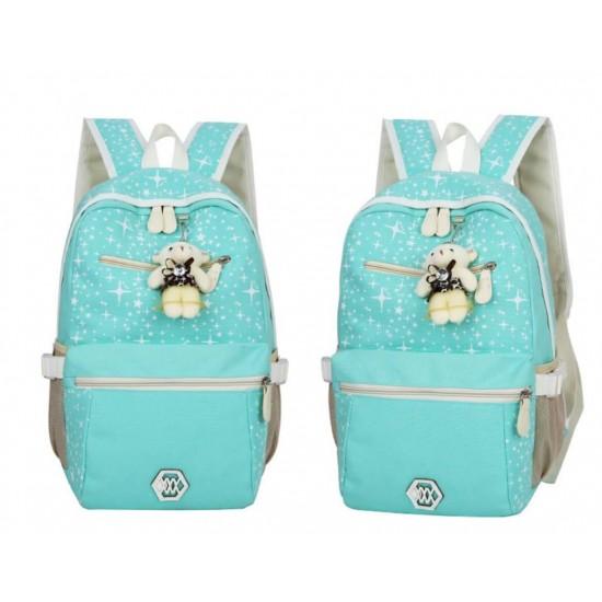 Juego de 3 mochilas escolares de tela, diseño de estrellas MOC00022