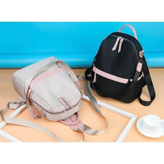 Mochila de nailon impermeable para mujer, antirrobo, mediana, bolso de hombro MOC00170