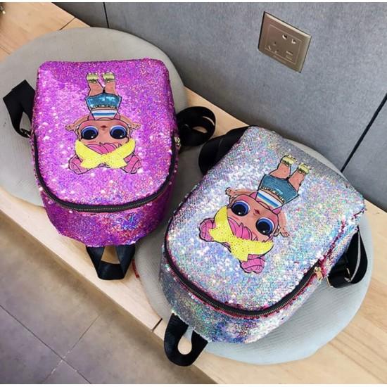 Mochila para niños con lentejuelas, diseño L.O.L. MOC00083