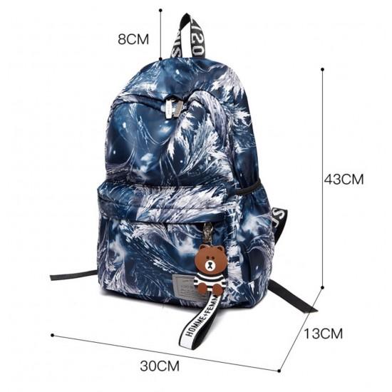 Mochila para mujer, impermeable, de nailon, ligera, para la escuela MOC00093