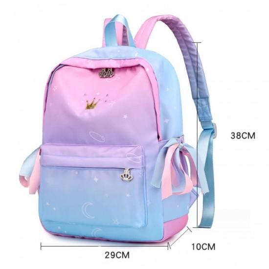 Mochila escolar para niños con diseño de corona MOC00013