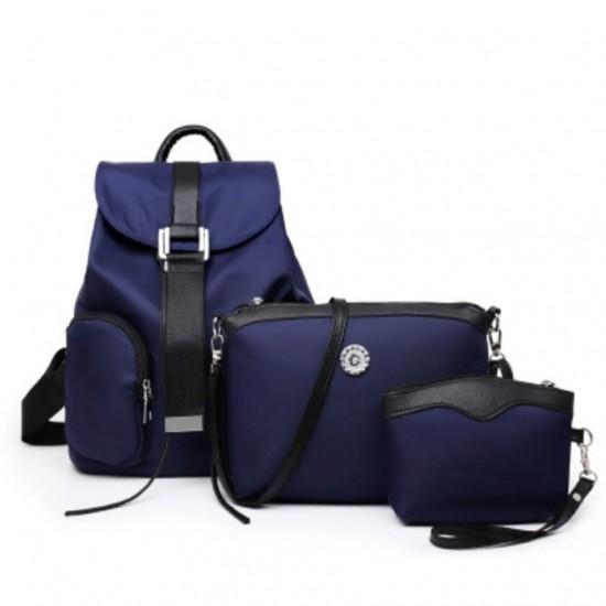Juego de 3 mochilas para mujeres y niñas de nailon MOC00059