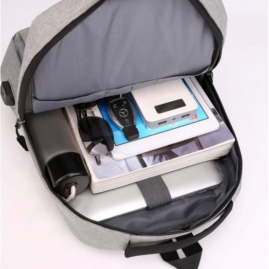 Mochila para portátil de viaje, para negocios, antirrobo, delgada, duradera, con puerto de carga USB, resistente al agua MOC00175