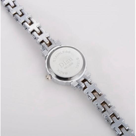 <br />ManChDa - Reloj de lujo para mujer, con movimiento de cuarzo, con diamantes de imitación REL00083