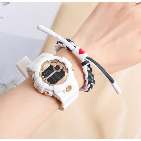 Reloj digital de hule marca HONHX para destudiantes, modelo 591-99F REL00104